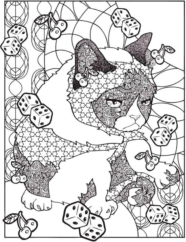 dover creative haven grumpy cat hates coloring 3 - Grumpy Cat Coloring Pages