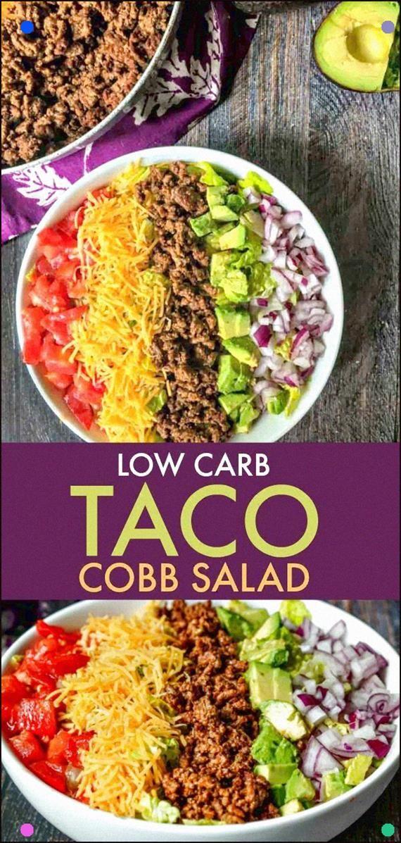 Dieser Taco Cobb Salat ist das perfekte kohlenhydratarme Mittag- oder Abendessen. Das Einzige, was …