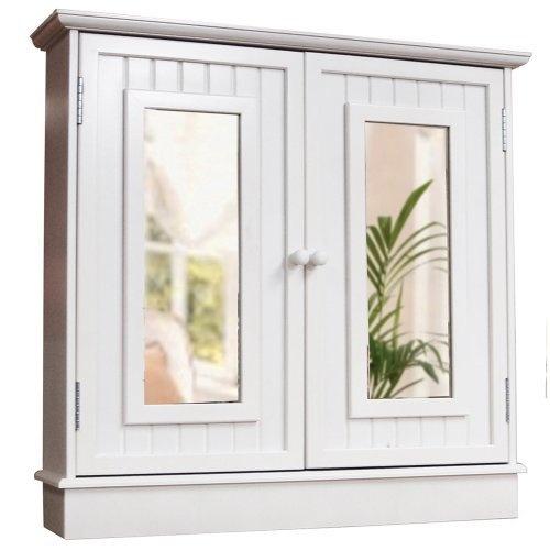 White Double Mirrored Wall Cupboard. Bathroom Wall StorageWall Storage  CabinetsBathroom ...