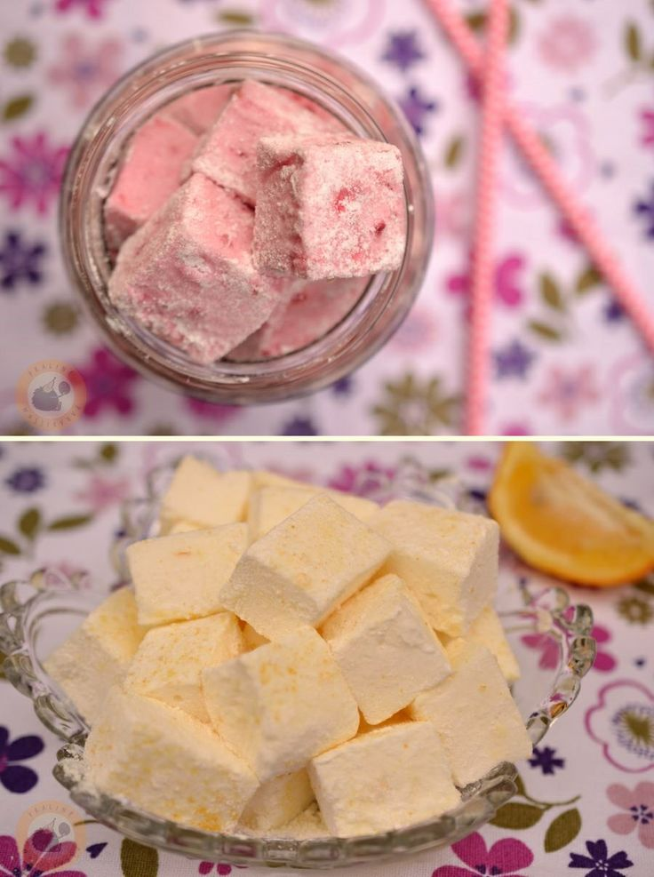Raspberry & Meyer lemon marshmallows