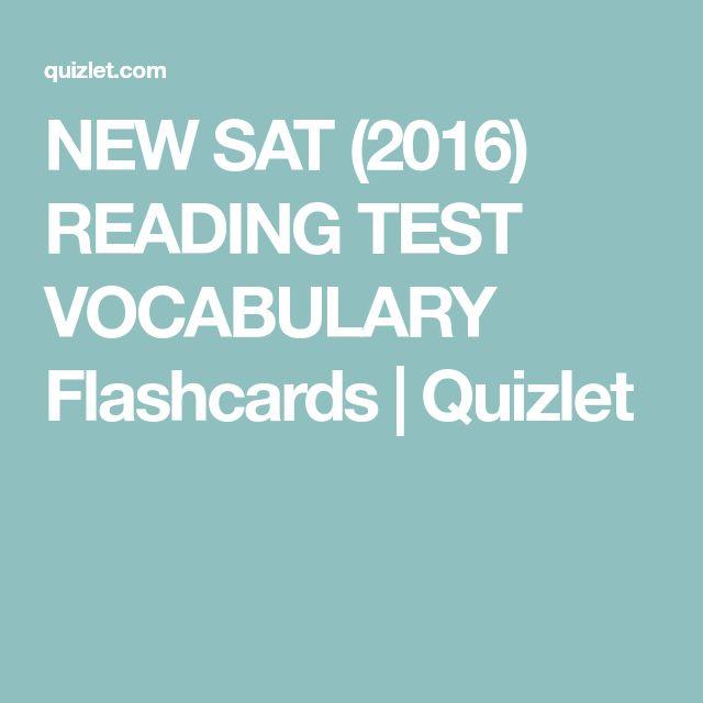 NEW SAT (2016) READING TEST VOCABULARY Flashcards   Quizlet
