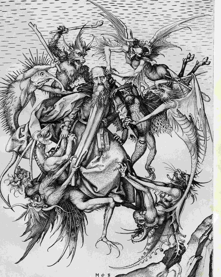 """schongauer-martin-anthony """"Demons tormenting St. Anthony"""""""