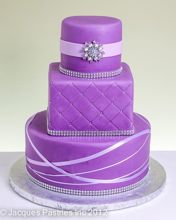Pretty cake! Make it a little more elegant and it would be perfect for a wedding!