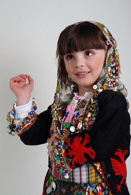 #albanian #little #girl wearing #traditional #costume ...
