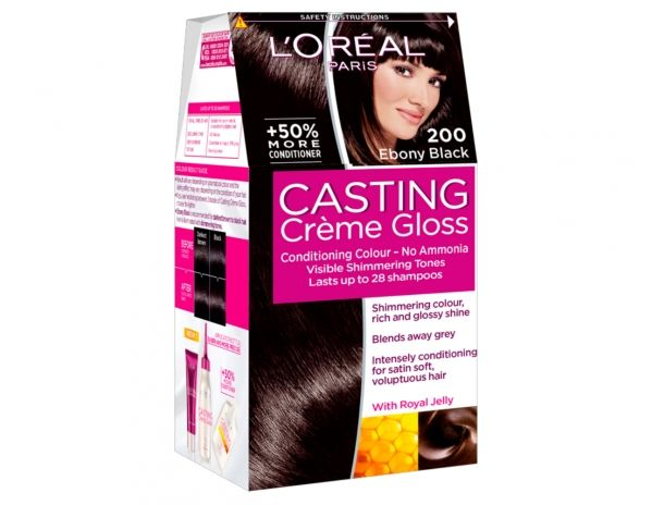 casting crme gloss 200 ebony black by loral paris - Coloration Casting Crme Gloss