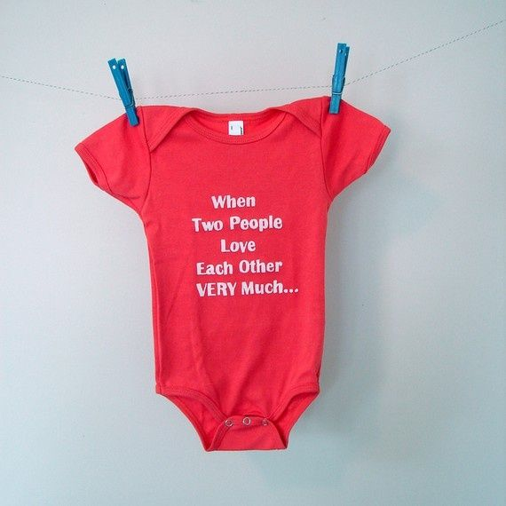 I'm in love with witty onesies. Seriously, our babies will wear the most ridiculous, sarcastic, and borderline inappropriate onesies. Because they don't have a choice what I dress them in =]