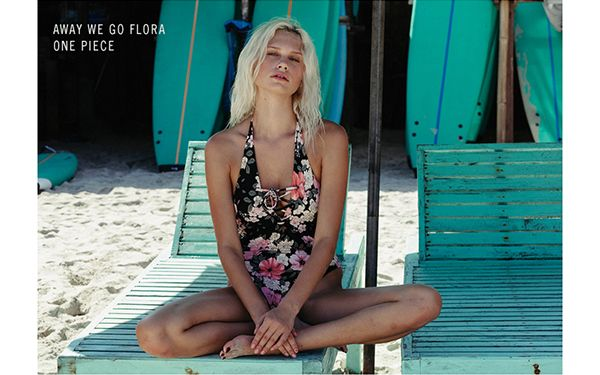 Away we go floral one piece