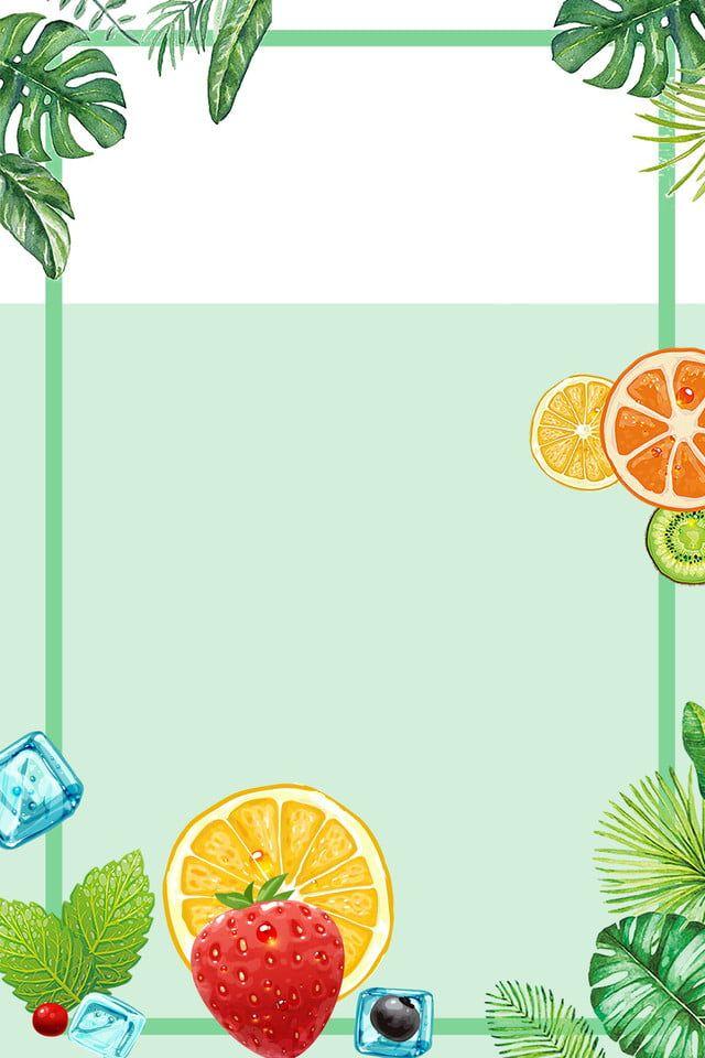 Fondo De Hojas De Fruta Fresca De Verano Jugo De Limon Rebanada Verde Dibujado A Mano El Verano Fruta Bebida Jugo Rodaja De Frutas Y Verduras Fotos Frutas Y Verduras Imagenes