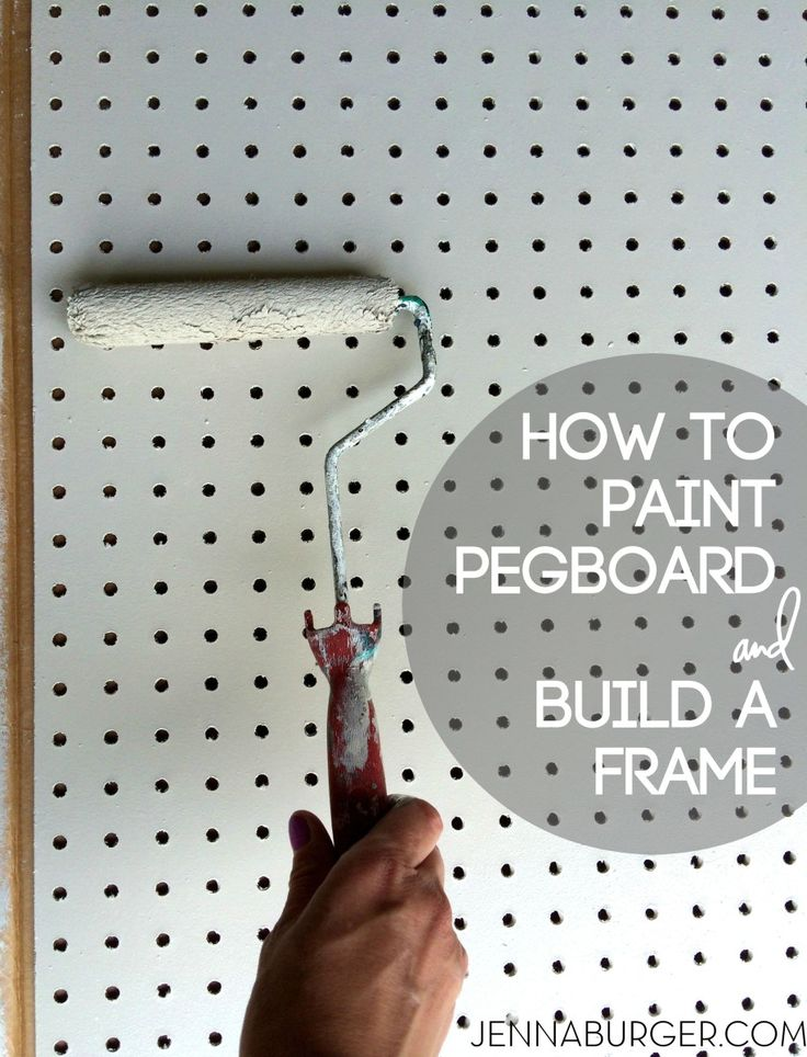 how to build a pegboard