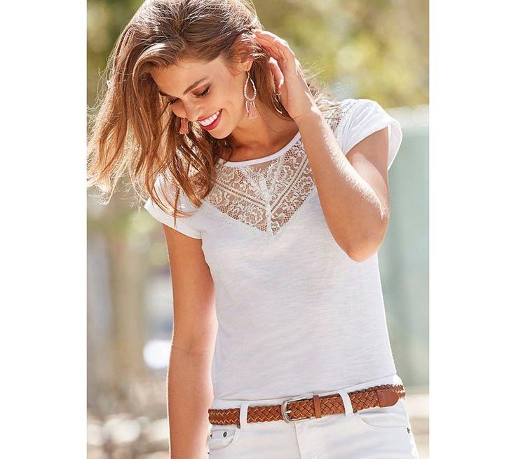 Tričko s krajkou | modino.cz #ModinoCZ #modino_cz #modino_style #style #fashion #bestseller #shirt