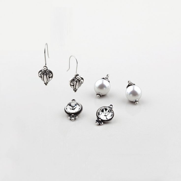 Miglio Designer Jewellery - Set of three Shades of White French Wire Earrings, R499.00 (http://shopza.miglio.com/shop-by-product/set-of-three-shades-of-white-french-wire-earrings/)