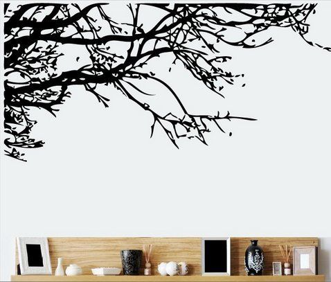 TRURENDI Stunning Tree Branch Removable Wall Art Sticker Vinyl Decal Mural Home Decor