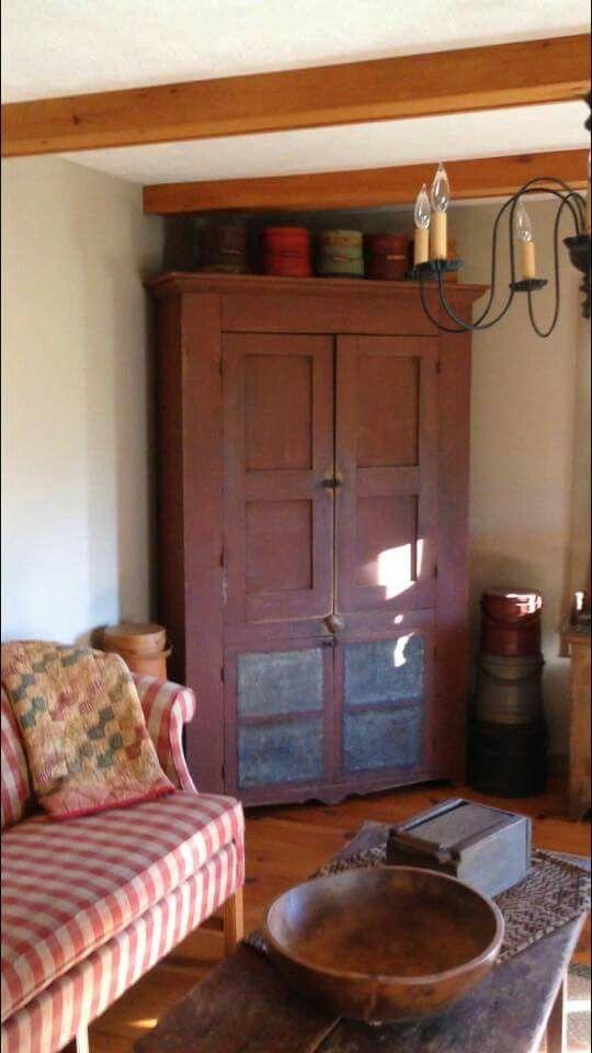 530 Best Images About Primitive Living Rooms On Pinterest Country Sampler Primitive Living