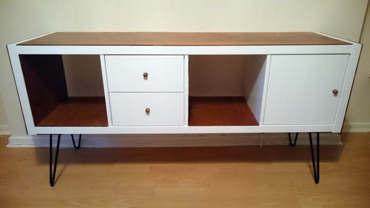 ikea hack kallax on hairpin legs ikea hackers diy. Black Bedroom Furniture Sets. Home Design Ideas
