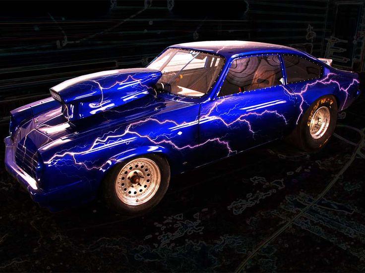 Car Paint Job Lightning Bolt