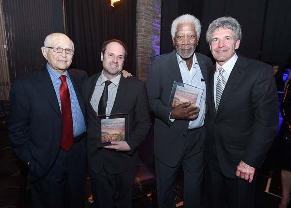 http://blacktiemagazine.com/society_may_2016/Geffen_Playhouse_Annual_Fundraiser.htm  Norman Lear, Jeff Skoll, Morgan Freeman and Alan Horn