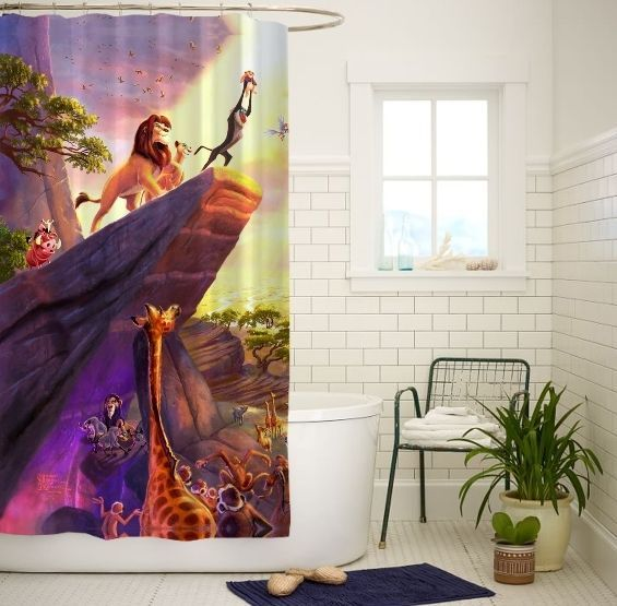 Hakuna Matata Lion King Quality Custom Shower Curtain Size 60x72 and 66x72 #Unbranded
