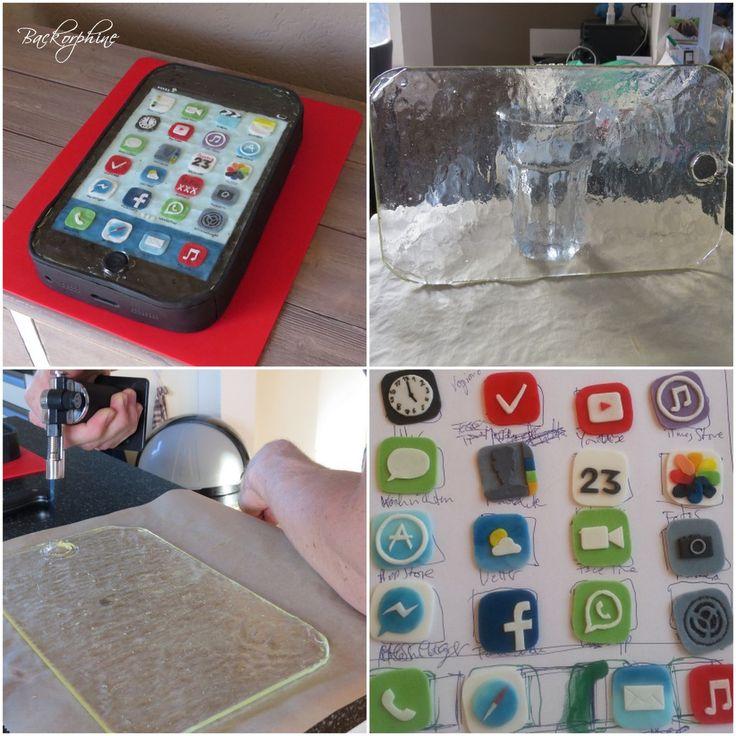 DIY iPhone Cake - Tutorial on the blog