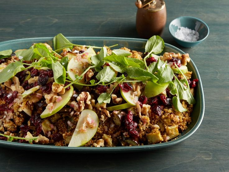 Quinoa, Roasted Eggplant and Apple Salad with Cumin Vinaigrette recipe from Giada De Laurentiis via Food Network