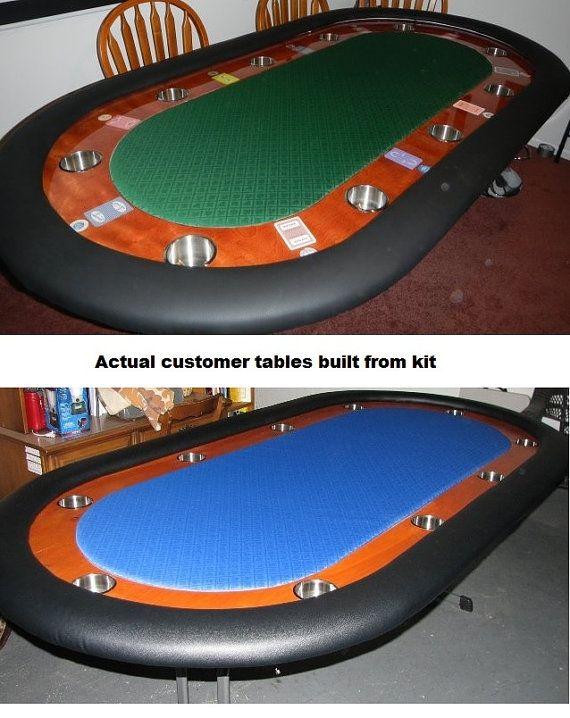 DIY 8' Premium Custom Racetrack Poker Table by PokerTableSupplies