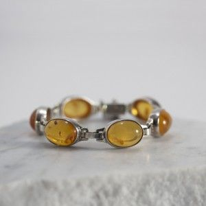 Silver and amber bracelet from Victor Jansson