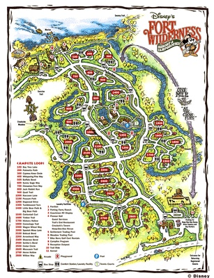 Disney Maps Wilderness Forts And Tent Camping