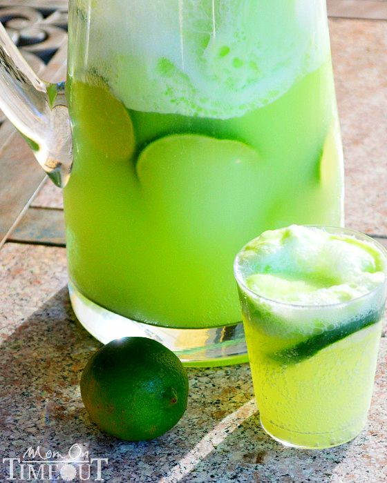 Lemmon-Lime Party Punch ~ delightfully addicting punch... Lime Sherbet, Lemon-Lime Soda, Fresh Limes