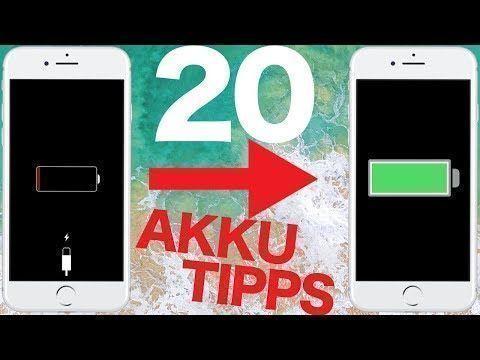 iOS 11 - Mit diesen 20 Tricks hält euer iPhone Akku deutlich länger - YouTube #iphonetricks
