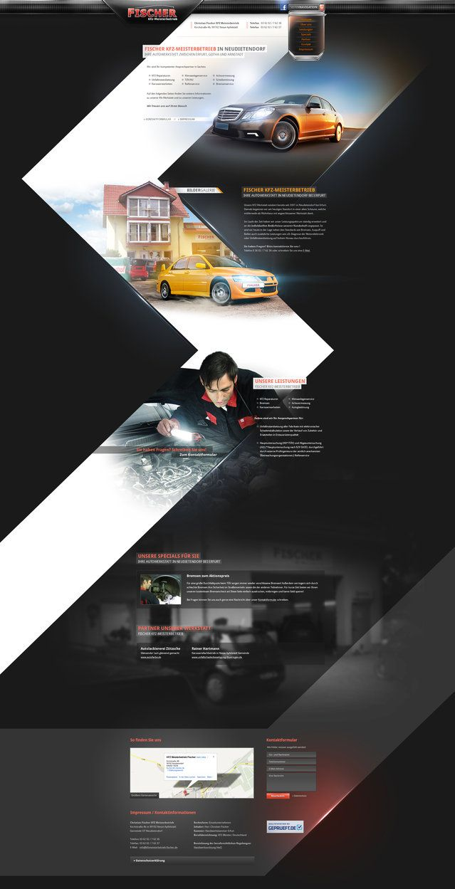 Car Workshop Onepage - WebDesign #WebDesign #ResponsiveDesign #Web #UI #UX #WordPress #Resposive Design #Website #Graphics