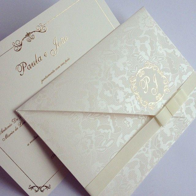 Convite de Casamento Paula e João Papel & Estilo♥ www.papeleestilo.com.br