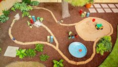 Backyard Play Area Ideas Transform a corner of your yard into a playtime paradise for kids with quick-and-easy projects that include a toy car road, a sandbox, and more.
