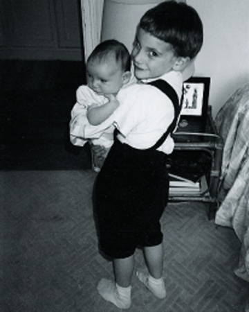 baby Mika with his baby sister Zuleika