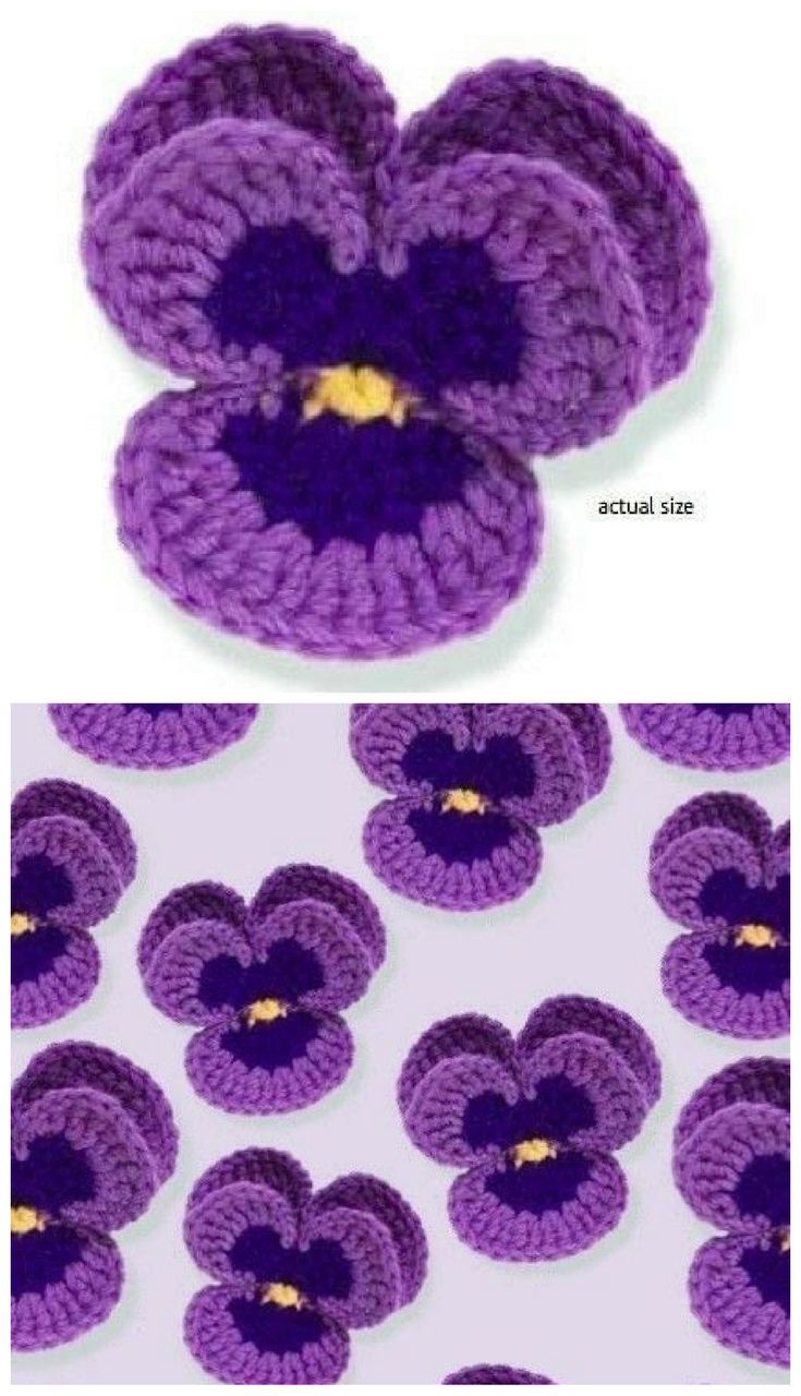 [Free Pattern] This Lovely Crochet Pansy Is Perfect In Every Way