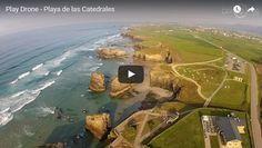 Video de la playa de las Catedrales a vista de dron