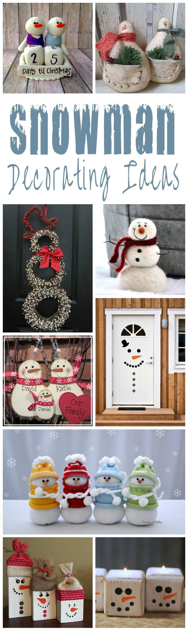 Cute And Charming Snowman Decorating Ideas For Christmas