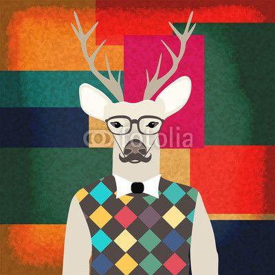 Jeleń hipster