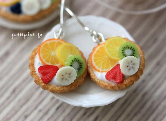 Fruit Tart / Pie / Cake Earrings  Tropical Feeling  by PetitPlat, €22.00