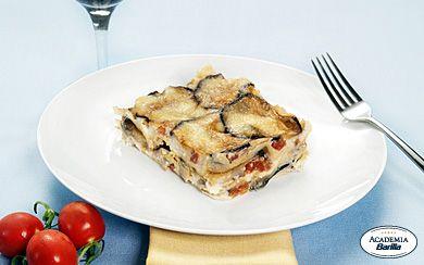 lasagna eggplant + mushrooms