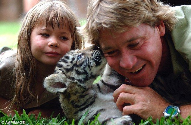 Bindi Irwin (pictured left with her father Steve) became a household name when she was born due to her father's wildlife conservation work and television program, 'The Crocodile Hunter'