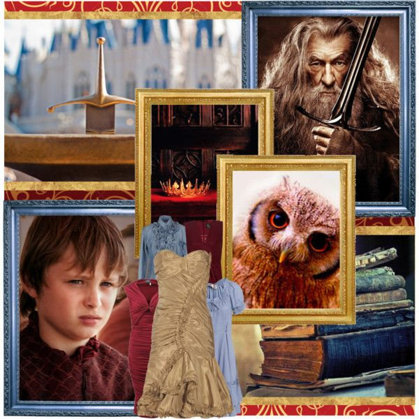 """Sir Ian McKellen as Merlin and Callum Wharry as Arthur.Don't you get any foolish ideas that magic will solve all your problems, because it won't!"" by snh3539 on Polyvore"