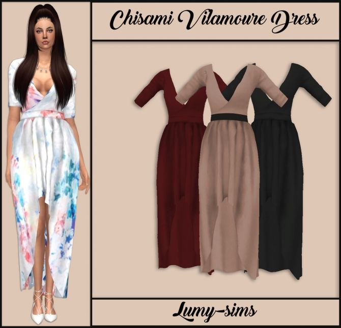 Vilamoure Dress at Lumy Sims via Sims 4 Updates Check more at http://sims4updates.net/clothing/vilamoure-dress-at-lumy-sims/