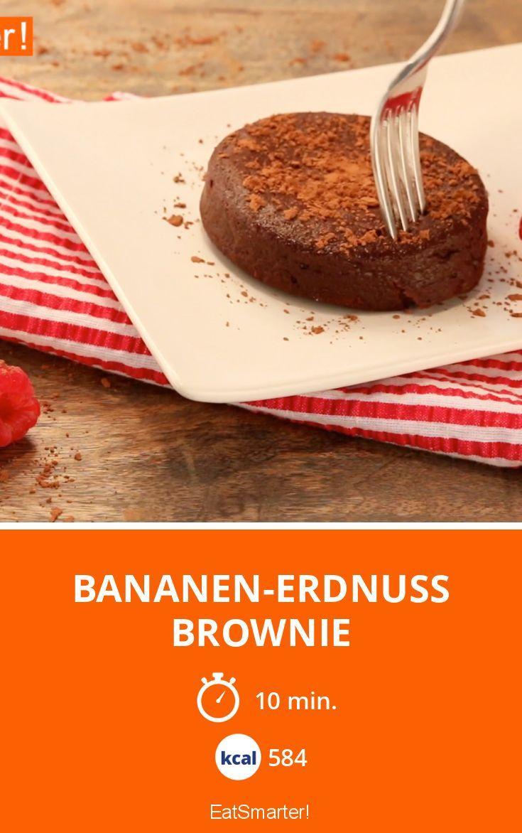 Bananen-Erdnuss Brownie | Kalorien: 584 Kcal - Zeit: 10 Min. | eatsmarter.de