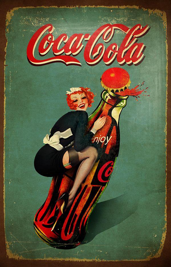 vintage Coca Cola posters on Behance