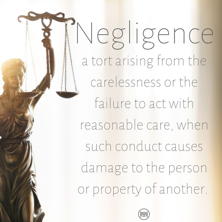 In order to prove negligence in a personal injury case you