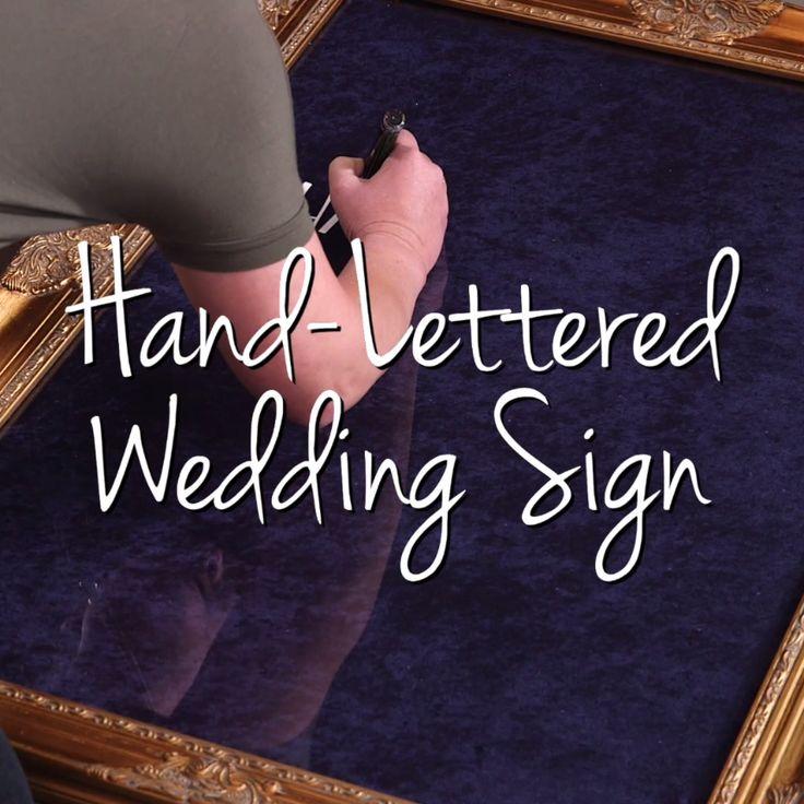 Hand Lettered Wedding Sign