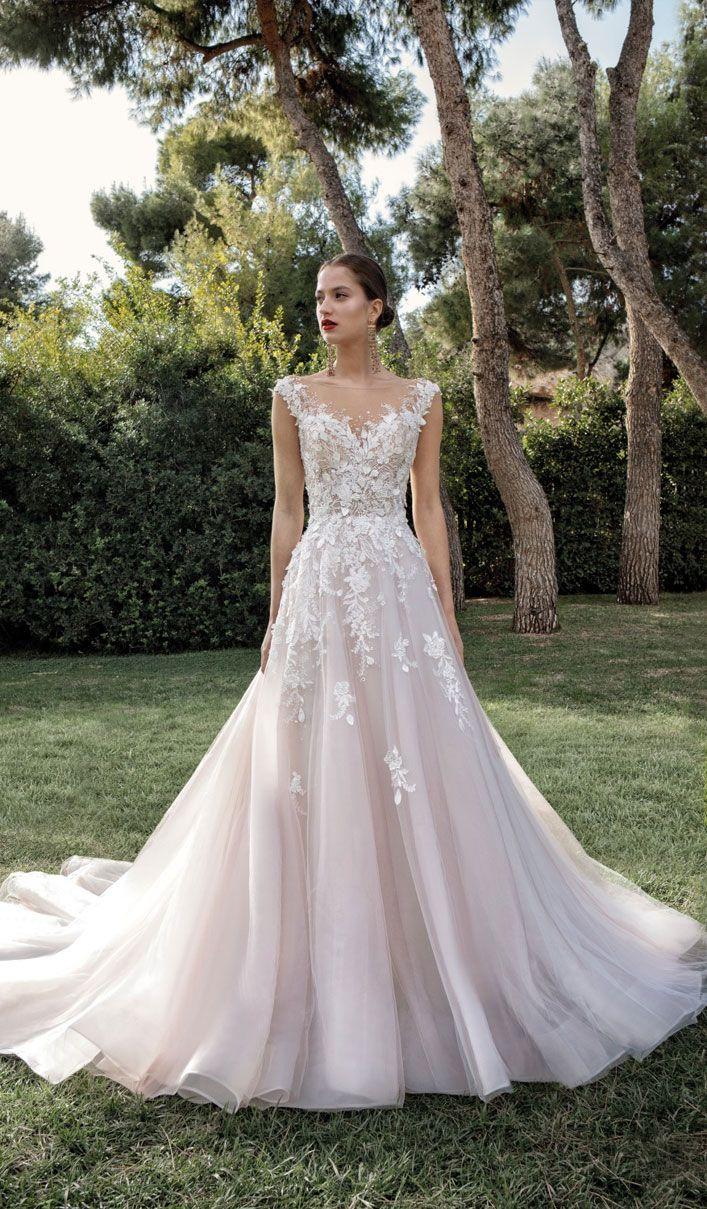Robe de mariée a-ligne florale sans manches – Demetrios 2020 Wedding Dresse …