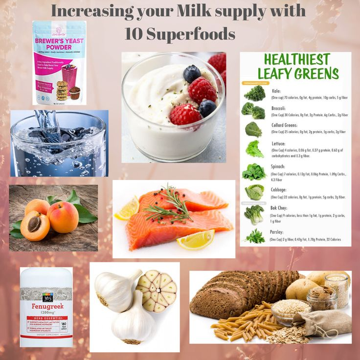Increase your milk supply with these 10 superfoods Milk