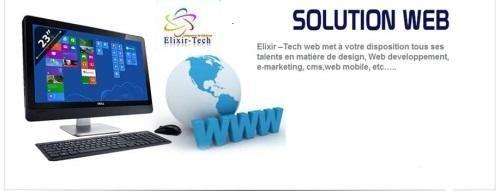 Elixir-Tech Solution Web ELIXIR-TECH met à votre disposition tous ses talents en matière de Web design, de Développement Web, e-marketing, CMS, Web mobile, etc…..