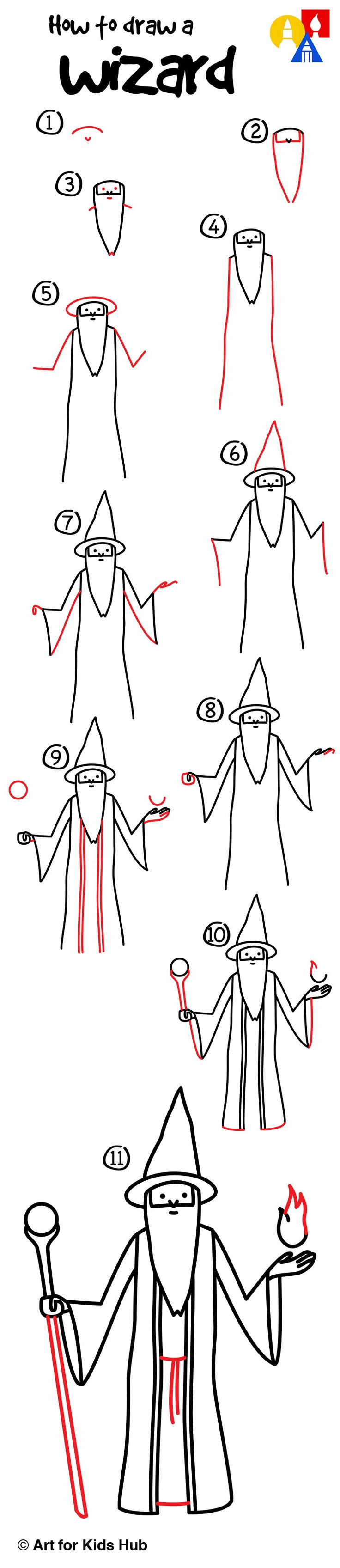 how to draw wizard art for kis
