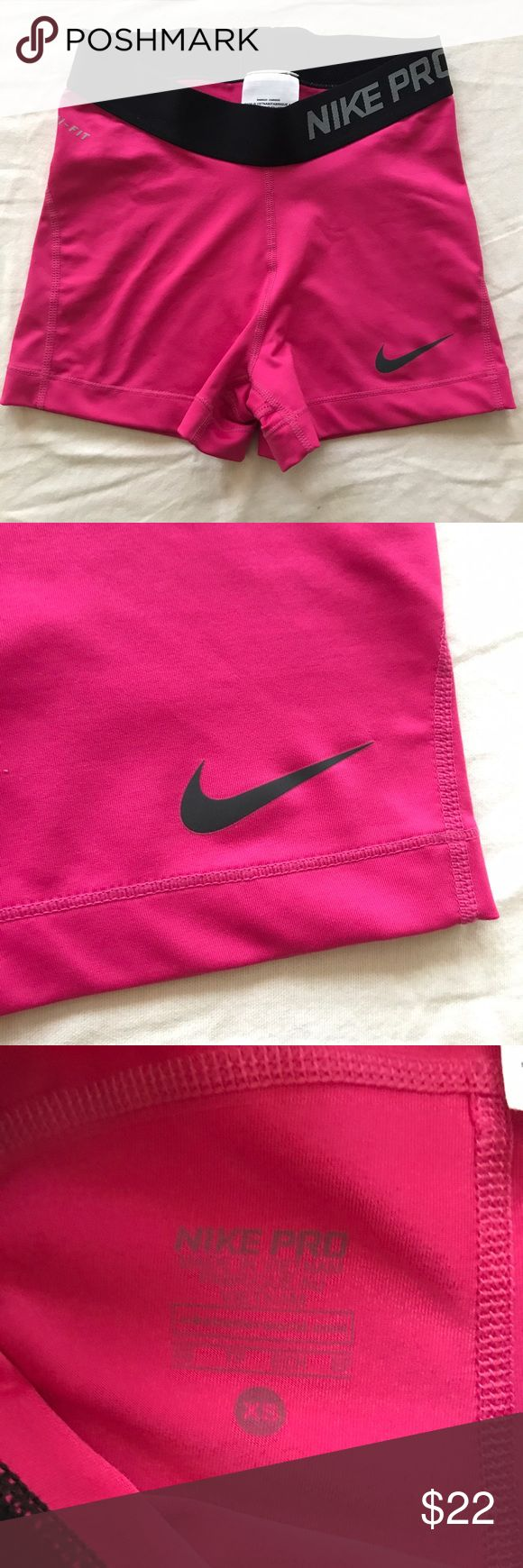 """NWOT Nike Pro 3"""" Compression Shorts  in Pink Nike Pro 3"""" Compression Shorts Spandex in Pink Nike Shorts"""
